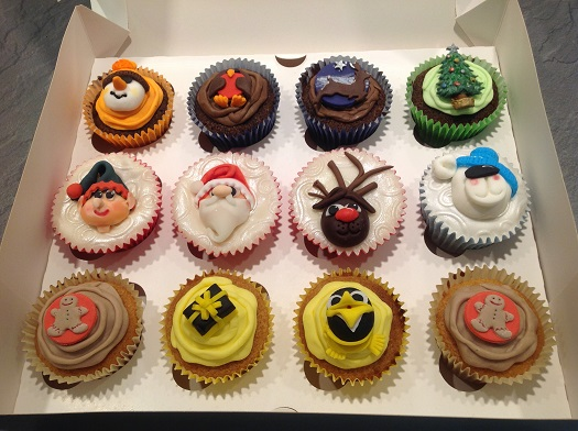Christmas cupcake selection box