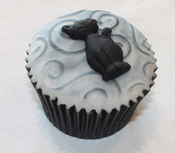 Halloween cupcake - Black cat