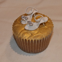 White shoes cupcake
