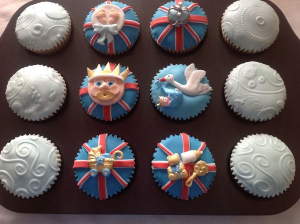 New Royal Baby cupcakes for Prince George